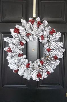 Cute christmas Wreath, door decoration, DIY door decor, DIY home decor