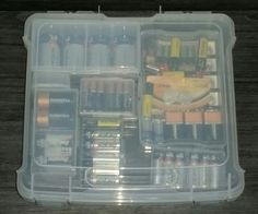 The Container Store, Battery Storage Organization DIY, Hurricane Prep Time! KimmyKatTriedThat.com