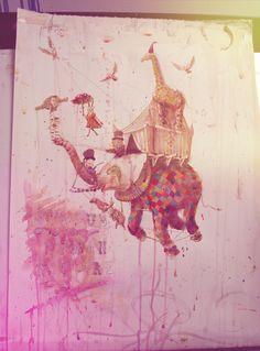 circus of human nature by Rolandas Ivanauskas, via Behance