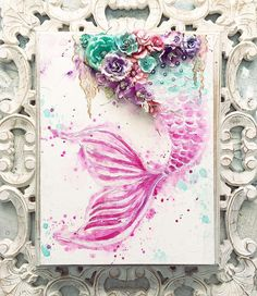 """239 Likes, 15 Comments - Stacey Young (@staceyyoungdesigns) on Instagram: """"I just posted another gorgeous Mermaid Tail canvas.  Pink, purple and turquoise 💗💗💗 Stunning…"""""""