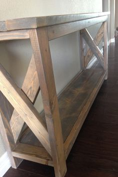 Custom Entry Way Hallway Sofa Table solid by CraigMoodieDesigns rustic furniture furniture western furniture diy rustic furniture rustic furniture Rustic Furniture, Diy Furniture, Furniture Design, Chevron Furniture, Antique Furniture, Modern Furniture, Rustic Sofa, Entry Furniture, Furniture Plans