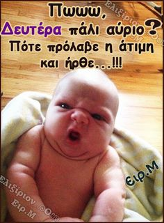 Haha Funny, Funny Texts, Funny Photos, Funny Images, Funny Labs, Funny Greek Quotes, Baby Faces, Raising Kids, Just For Laughs