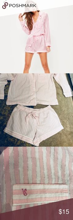 Victoria's Secret Sleepwear Slightly used but has two micro holes in the top back (see last picture) Beautiful and fresh for summer time  I love it but It is not my size 😢 Excellent price Victoria's Secret Intimates & Sleepwear Pajamas