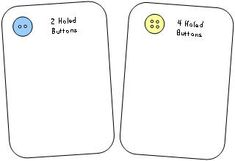 Pete the Cat: sorting 2-holed from 4-holed buttons. Activity with My Four Groovy Buttons.