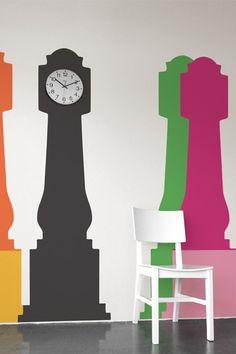 clock on a vinyl cutout