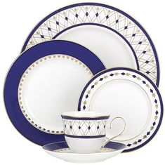 Shop a great selection of Lenox Royal Grandeur 5 Piece Place Setting, White. Find new offer and Similar products for Lenox Royal Grandeur 5 Piece Place Setting, White. White China, Dinner Sets, Dinner Parties, Cafe Interior, Place Settings, Diamond Pattern, Mens Gift Sets, Bone China, Blue Gold