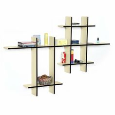 Trista - [Stylish Beige-MEGA] Leather Cross Type Shelf / Bookshelf / Floating Shelf (9 pcs) by Trista Wall Shelf. $119.89. Display souvenirs, photos, CDs, awards, books, decorative items and more.. Top faux leather covering with contrast stitching over a sturdy wooden frame.. Adds a rich upscale look to any room, updates your home decor with the stylish & convenient shelves.. Creates stunning storage solution while saving space.. Maximum weight capacity: 10 lbs for each shel...