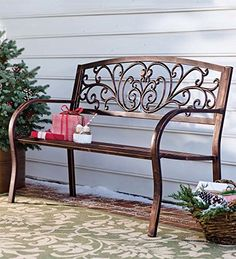 Blooming Garden Cast Aluminum Bench Plow & Hearth http://www.amazon.com/dp/B00HS3M0QY/ref=cm_sw_r_pi_dp_Ew4Gub0FBJQ56
