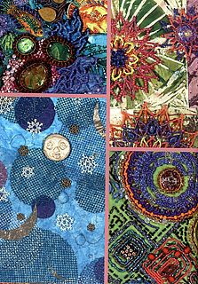 Embellished Art Quilts | Bead Creative Art Quilts by Nancy Eha