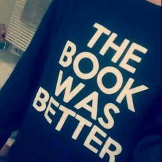 The Book Was Better Black Unisex sweatshirt funny sweatshirts cool jumper fashion sweater on Etsy, $30.00