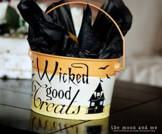 The Moon and Me: Wicked Good Treats Pail