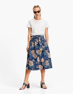 Flared midi skirt with belt - Skirts Skirt Belt, Pleated Skirt, Linda Summer, Summer Sale, Spring Summer, Midi Flare Skirt, Republic Of Ireland, My Wardrobe, Elastic Waist