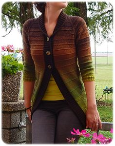 Im Garten Merino Ladies Cardigan Knitting Patterns, Crochet Cardigan, Knit Crochet, Fair Isle Pattern, Knitting Socks, Cardigans For Women, Types Of Sleeves, Ravelry, Knitwear