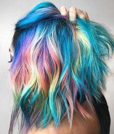 50 Happy Hair Color for Summer Ideas [post_tags Source by Ideas summer Pulp Riot Hair Color, Teal Hair, White Hair, Dark Hair, Unicorn Hair, Dye My Hair, Mermaid Hair, Mermaid Makeup, Crazy Hair