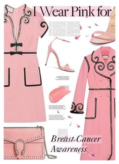 """""""Who Do You Wear Pink For?"""" by cocochanel10 ❤ liked on Polyvore featuring Gucci, Pink, breastcancerawareness and guccilover"""
