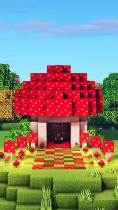 Minecraft House Tutorials, Cute Minecraft Houses, Minecraft Videos, Minecraft House Designs, Amazing Minecraft, Minecraft Tutorial, Minecraft Blueprints, Minecraft Creations, Minecraft Crafts