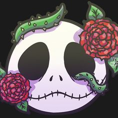 Jack Skellington Roses by MynnuB NOT Available on Redbubble Nightmare Before Christmas Wallpaper, Hp Lovecraft, Jack And Sally, Cartoon Shows, Halloween Christmas, Jack Skellington, Tim Burton, Taurus, Good Movies
