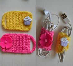 Best 11 Crocheted headphone holder – Page 425379127294009819 – SkillOfKing.I need it for my cables Crochet Cord, Crochet Ripple, Crochet Motif, Crochet Designs, Crochet Flowers, Crochet Patterns, Crochet Gifts, Cute Crochet, Yarn Projects