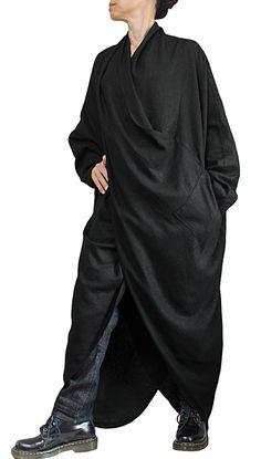 Soft Hemp Loose Long Dress No1 DNN-080-01 by SawanAsia on Etsy