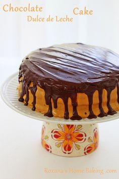 Chocolate Cake with Dulce de Leche Frosting by RoxanaGreenGirl | Roxana's Home Baking, via Flickr
