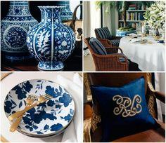 I love blue & white!!!