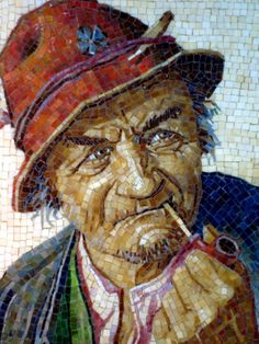 Detail of ''The Hunter'' by Saad Romany Mikhaiel - Micro Mosaic Artist