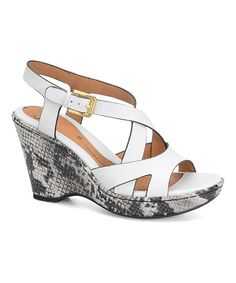 This Söfft by Softspots White Vivien Leather Wedge Sandal by Söfft by  Softspots is perfect!
