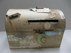 travel urn Source by Rockabilly Wedding, Old Suitcases, Marry You, Travel Themes, Decorative Boxes, Dream Wedding, Travel Decorations, Creative, Gifts