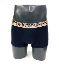 Boxer Armani Shiny Logo Band Gold