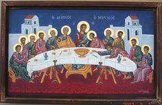 79-Ο ΜΥΣΤΙΚΟΣ ΔΕΙΠΝΟΣ by agiografies, via Flickr Last Supper, Orthodox Icons, Religious Art, Concept Art, Mystery, Painting, Inspiration, Templates, Christians