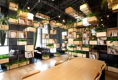 Urban Design Environment and Greenery series cubic frameworks books art objects plant life