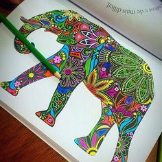 Millie Marotta's Tropical World - Elephant