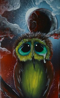 Sad Owl i painted on a candle holder http://society6.com/product/shhhhhh-5qc_print#1=45