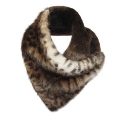 The Duo Scarf in Ocelot and Treacle combines a beautiful animal print with a rich dark brown faux fur.  The cut of the duo means that it can be worn in a variety of ways, and is held in place with a pop fastener.  Designed and handmade in England by Helen Moore.