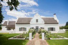 House Facades, Facade House, Cape Dutch, African House, Ranch Exterior, Dutch House, Dutch Colonial, Colonial Architecture, The Gables