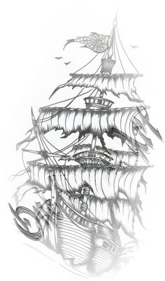 Photos dessin couleur bateau pirate page 10