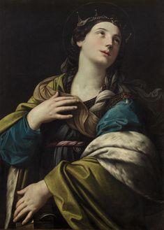 Saint Catherine of Alexandria / Santa Catalina de Alejandría // ca. 1610-1615 // Workshop of Guido Reni  // Kunsthistorisches Museum, Wien // #Christian #martyr