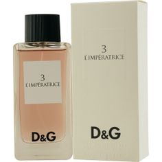 D & G 3 L'IMPERATRICE Perfume by Dolce & Gabbana  Need a little Italian in my life
