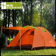 51.52$  Watch now - http://aliu9d.worldwells.pw/go.php?t=32319337047 - Flytop high quality double layer 3-4person waterproof camping tent 51.52$