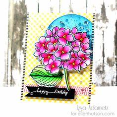 #TexturalTuesdays - Mondo Hydrangea Birthday Card by Lisa   the CLASSroom   Bloglovin'
