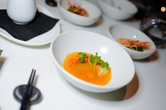 Smoked Lobster Marmitako Stew (poured table side onto the Lobster), on the Miku Toronto NYE Kaiseki Dinner Menu. (Photo: Steven Branco for View the VIBE) Dinner For 2, Dinner Menu, Nye, Thai Red Curry, Sushi, Toronto, Canning, Drinks, Ethnic Recipes