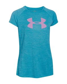 Under Armour Girls' Big Logo Tee - Sizes Xs-xl | Polyester | Machine wash | Imported | Fits true to size | Cut for a loose fit | Crewneck, short sleeves, large front logo, small back logo | Moisture-w