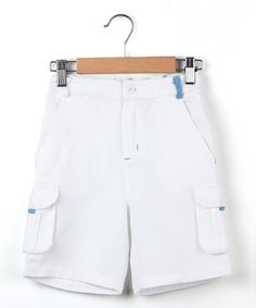 Love this Beebay White Cargo Pocket Bermuda Shorts - Boys by Beebay on #zulily! #zulilyfinds