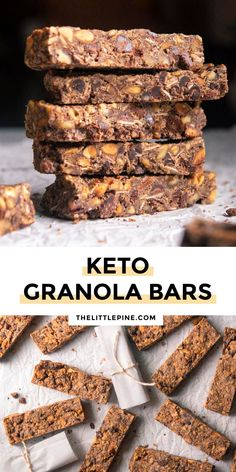 *NEW* For outdoor adventures, 3 o'clock boosts, crazy morning breakfasts, and more, low carb granola bars pack the protein without the carbs to keep you going strong! #lowcarbgranolabars #ketogranolabars #granolabars #keto #lowcarb Low Carb Milk, Low Carb Protein, High Protein Recipes, Low Carb Recipes, Ketogenic Recipes, Ketogenic Diet, Free Recipes, Healthy Recipes, Low Carb Granola