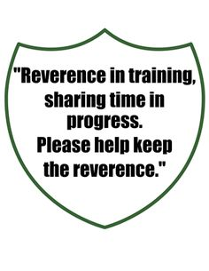 reverence in training