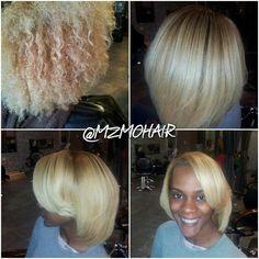 Blonde blowdry & silk (no rrlaxer)