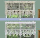 130cm Valance Blue Stripe Crochet Cotton Lace Home Kitchen Window Cafe Curtain | eBay Half Window Curtains, Check Curtains, Lace Window, Short Curtains, Cotton Crochet, Cotton Lace, Country Kitchen Curtains, Lace Valances, Pelmets