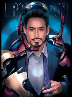 This is Trading card for Marvel only event. Avengers 2 … So difficult to draw… ㅇ>-< d. Marvel Dc, Marvel Heroes, Chibi Marvel, Caricature, Iron Man Art, Robert Downey Jr., Iron Man Tony Stark, Tony Stark Comic, Mundo Comic