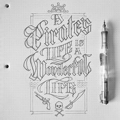 Takeaway: Blackletter can be a very decorative type that communicates a certain idea, feeling, or genre. Gothic Lettering, Graffiti Lettering, Creative Lettering, Types Of Lettering, Vintage Lettering, Calligraphy Alphabet, Typography Letters, Graphic Design Typography, Lettering Design