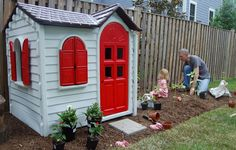 playhouse w/ small garden next to window @Sarah Allen @Danielle Watkins  Kind of what I was talking about